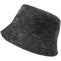 Accessoires textile Chapeaux Hip Hop Honour Chapeau Bob Militaire Bleu Camouflage Marine Tendance Boby Bleu