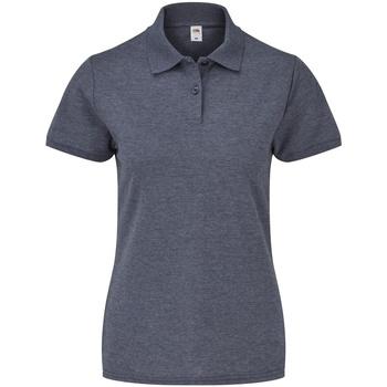 Vêtements Femme Polos manches courtes Fruit Of The Loom 63212 Bleu marine chiné