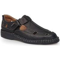 Chaussures Homme Votre mot de passe doit contenir un minimum de 8 caractères Calzamedi SANDALES  GIOTTO NOIR
