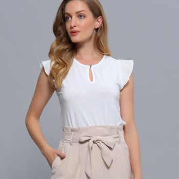 Vêtements Femme Tops / Blouses Smart & Joy Pieris Blanc cassé