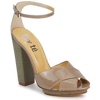 Sandales et Nu-pieds Keyté KRISTAL-26722-TAUPE-FLY-3