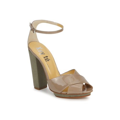 Chaussures Femme Sandales et Nu-pieds Keyté KRISTAL-26722-TAUPE-FLY-3 TAUPE