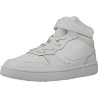 Chaussures Garçon Baskets montantes Nike COURT BOROUGH MID 2 (PS) Blanc