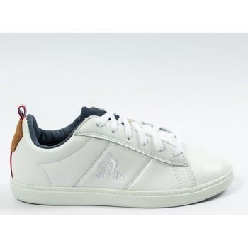 Chaussures Garçon Baskets basses Le Coq Sportif COURTCLASSIC GS Blanc