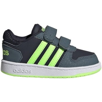 Chaussures Enfant Baskets basses adidas Originals Hoops 20 Cmf I Gris,Bleu marine,Graphite