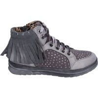 Chaussures Fille Baskets montantes Laura Biagiotti sneakers daim synthétique gris