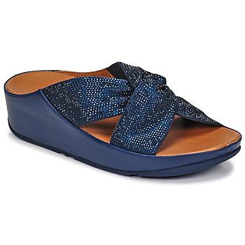 Chaussures Femme Sandales et Nu-pieds FitFlop TWISS CRYSTAL SLIDE Bleu