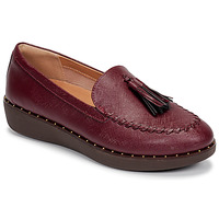 Chaussures Femme Mocassins FitFlop PETRINA PATENT LOAFERS Rouge