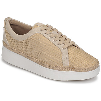 Chaussures Femme Baskets basses FitFlop RALLY BASKET WEAVE SNEAKERS Beige