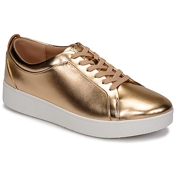 Chaussures Femme Baskets basses FitFlop RALLY METALLIC SNEAKERS Rose
