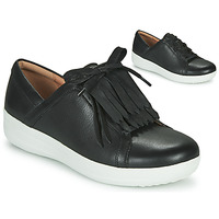 Chaussures Femme Baskets basses FitFlop F-SPORTY II LACE UP FRINGE SNEAKERS - LEATHER Noir