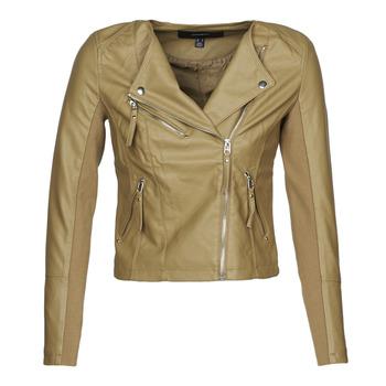 Vêtements Femme Vestes en cuir / synthétiques Vero Moda VMRIAFAVO Beige
