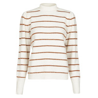 Vêtements Femme Pulls Vero Moda VMCORNELIAPUFF Blanc / Marron