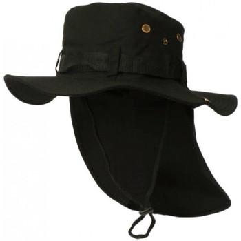 Accessoires textile Homme Chapeaux Nyls Création Chapeau Bob Safari Noir Lien Serrage et Protege Nuque Noir