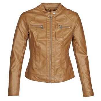 Vêtements Femme Vestes en cuir / synthétiques Only ONLBANDIT Cognac