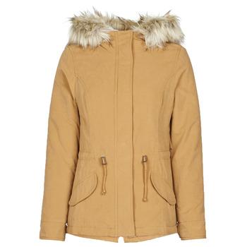 Vêtements Femme Parkas Only ONLNEW LUCCA Camel