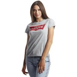 Vêtements Femme T-shirts manches courtes Levi's The Perfect Graphic Gris