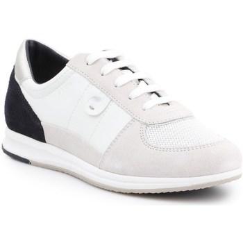 Chaussures Femme Baskets basses Geox D Avery Blanc,Noir,Beige