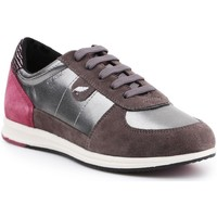 Chaussures Femme Baskets basses Geox D Avery Argent,Marron,Rose