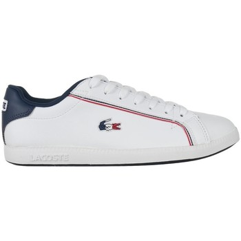 Chaussures Homme Baskets basses Lacoste Graduate 119 3 Sma Blanc, Bleu marine