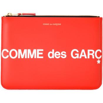 Sacs Femme Portefeuilles Comme Des Garcons Bustina  Huge Logo in pelle color Rouge