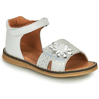 Chaussures Fille Sandales et Nu-pieds GBB SATIA Blanc / Argenté