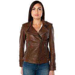 Vêtements Femme Vestes en cuir / synthétiques Cityzen APRILIA 2 MID BROWN Marron