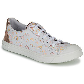 Chaussures Fille Baskets basses GBB MATIA Blanc / Rose