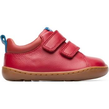 Chaussures Garçon Baskets basses Camper Baskets cuir Peu Cami rouge