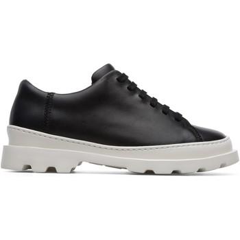 Chaussures Femme Derbies Camper Baskets à lacets cuir Brutus noir