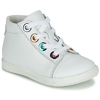 Chaussures Fille Baskets montantes Little Mary VITAMINE Blanc