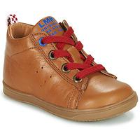 Chaussures Garçon Baskets montantes Little Mary LEON Marron
