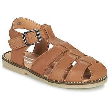 Chaussures Garçon Sandales et Nu-pieds Little Mary BREHAT Marron