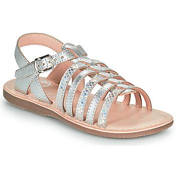 Chaussures Fille Sandales et Nu-pieds Little Mary BARBADE Argenté