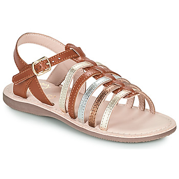 Chaussures Fille Sandales et Nu-pieds Little Mary BARBADE Marron