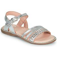 Chaussures Fille Sandales et Nu-pieds Little Mary LIME Argenté