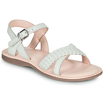 Chaussures Fille Sandales et Nu-pieds Little Mary LIANE Blanc