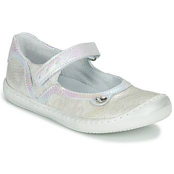 Chaussures Fille Ballerines / babies Little Mary BRILLANTE Ecru