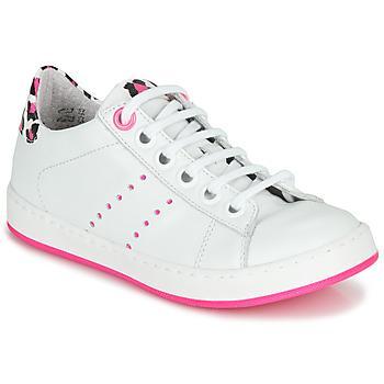 Chaussures Fille Baskets basses Little Mary LAURENE Blanc