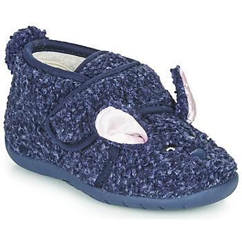 Chaussures Enfant Chaussons Little Mary LAPINVELCRO Bleu