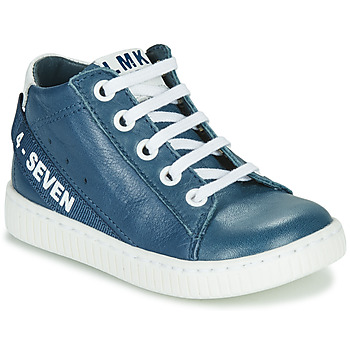 Chaussures Garçon Baskets montantes Little Mary LUCKY Bleu