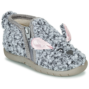 Chaussures Enfant Chaussons Little Mary LAPINZIP Gris