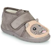 Chaussures Enfant Chaussons Little Mary LIONVELCRO GRIS