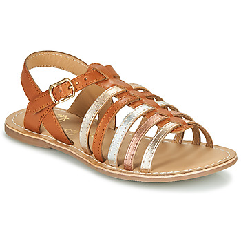 Chaussures Fille Sandales et Nu-pieds Little Mary BARBADE Cognac / Rose