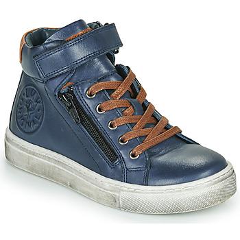 Chaussures Garçon Baskets montantes Little Mary FIRST Bleu
