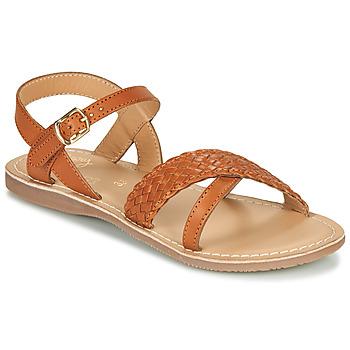 Chaussures Fille Printemps / Eté Little Mary LIANE Cognac