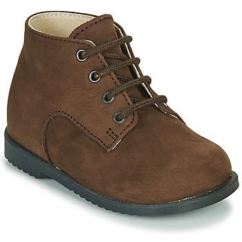 Chaussures Garçon Boots Little Mary MILOT Marron