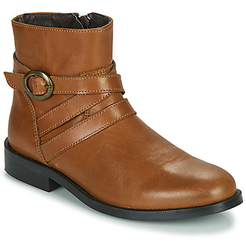 Chaussures Fille Boots Little Mary TIMOTHY Cognac