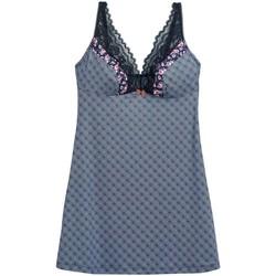 Vêtements Femme Pyjamas / Chemises de nuit Pommpoire Nuisette indigo/caramel Débutante Bleu