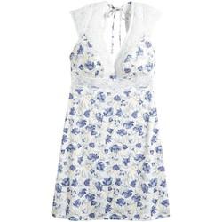 Vêtements Femme Pyjamas / Chemises de nuit Pommpoire Nuisette ivoire/lavande Elfe Bleu